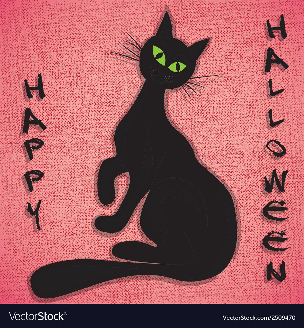 Black cat halloween holiday vector | Price: 1 Credit (USD $1)