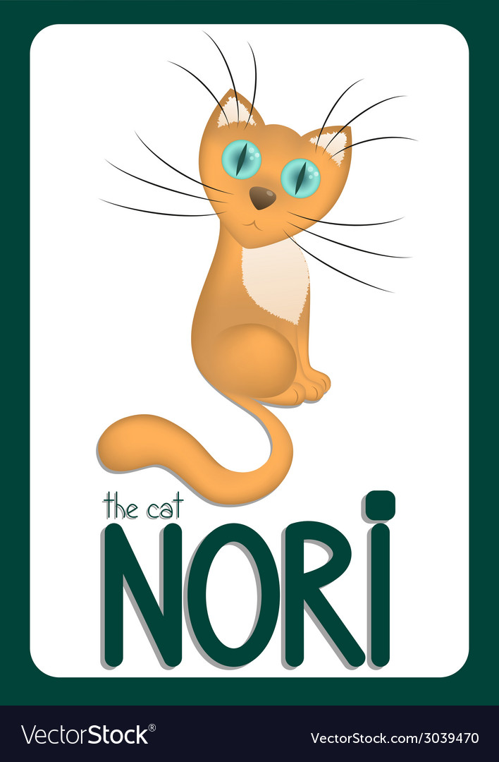 Cartoon cat nori vector | Price: 1 Credit (USD $1)