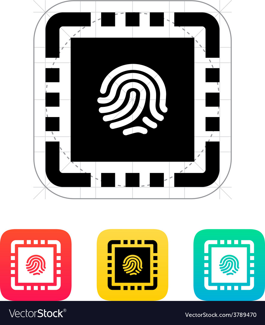 Cpu secure icon vector | Price: 1 Credit (USD $1)