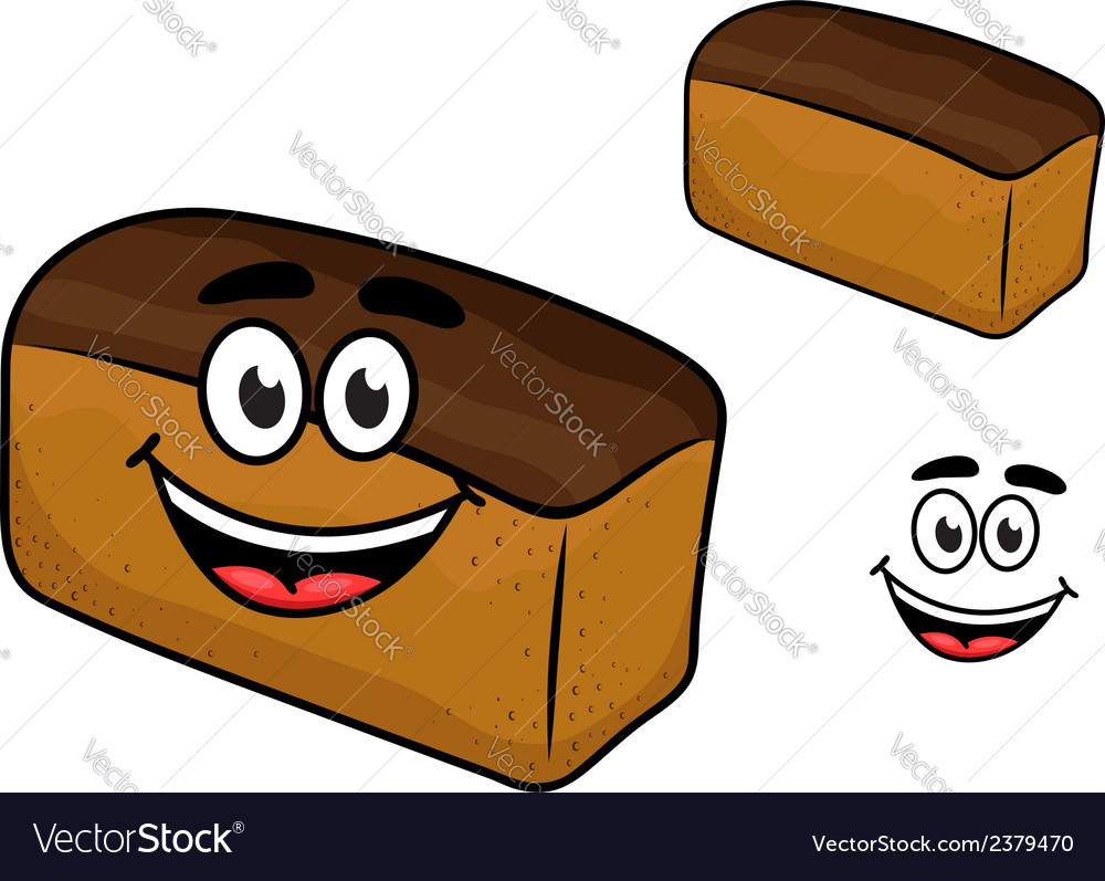 Freshly baled smiling loaf of brown bread vector | Price: 1 Credit (USD $1)
