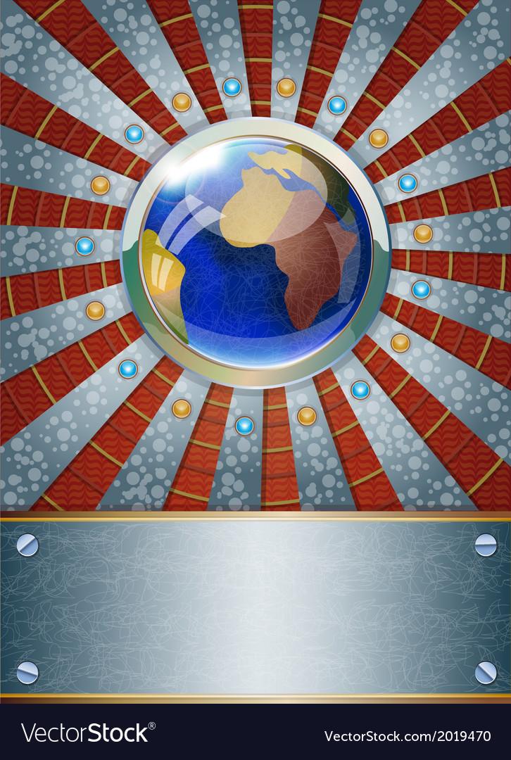Futuristic metalic background vector | Price: 1 Credit (USD $1)
