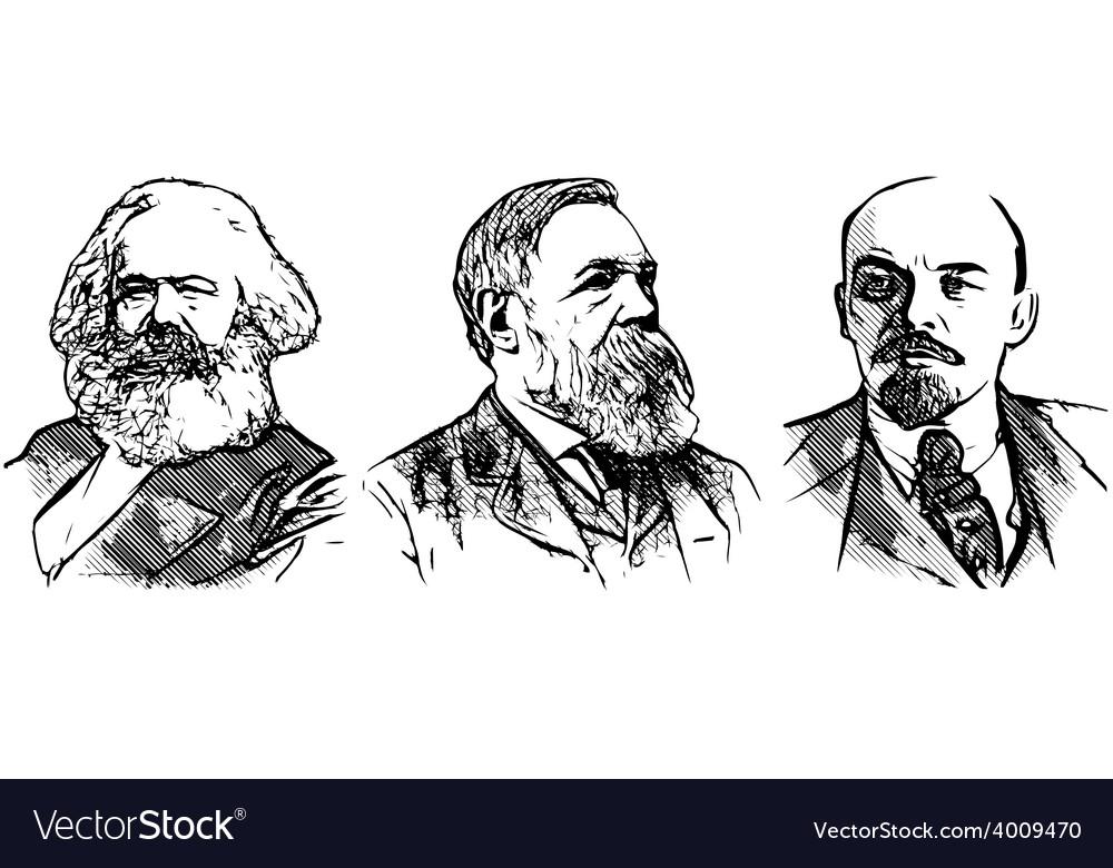 Lenin marx engels vector | Price: 3 Credit (USD $3)