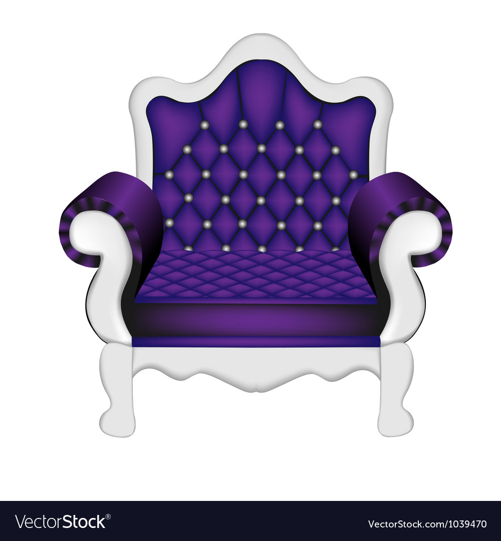 Luxury violet chair vector | Price: 1 Credit (USD $1)