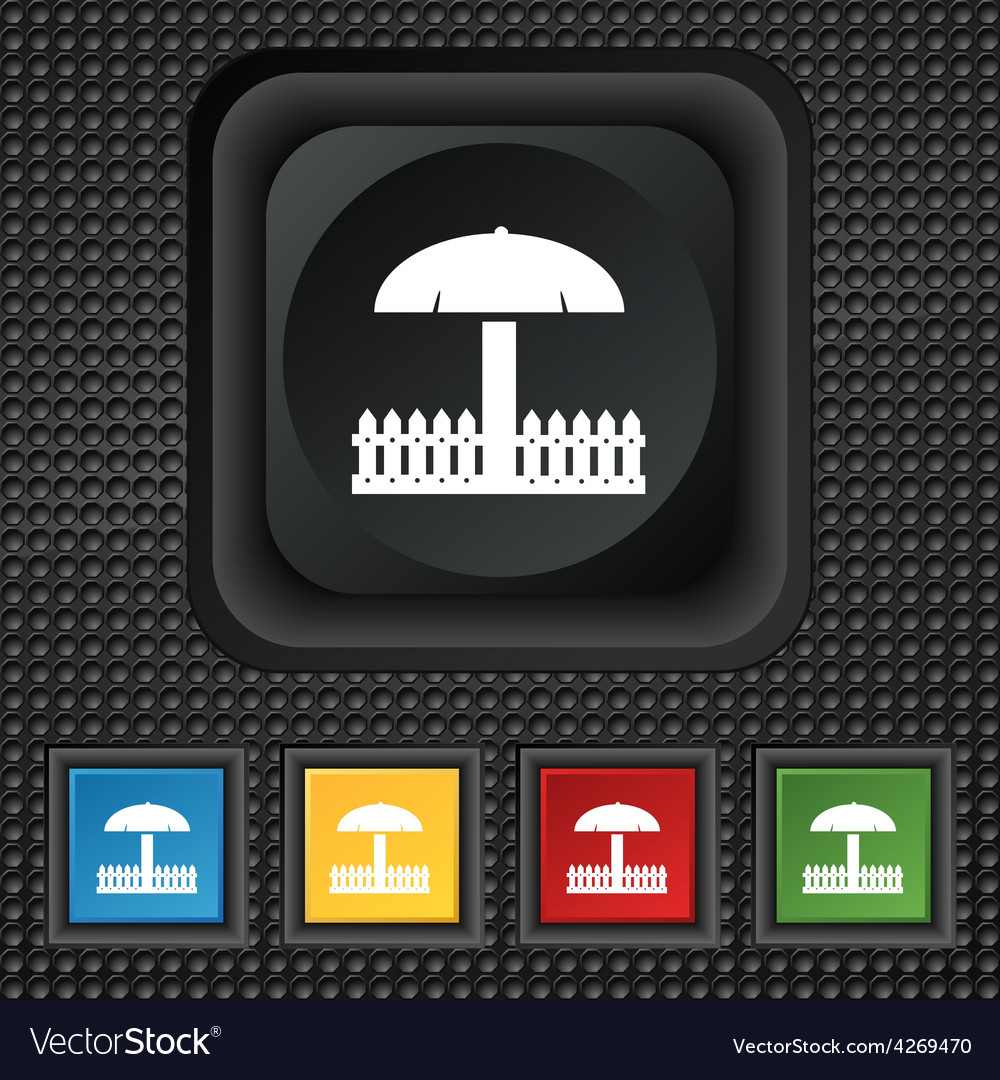 Sandbox icon sign symbol squared colourful buttons vector | Price: 1 Credit (USD $1)