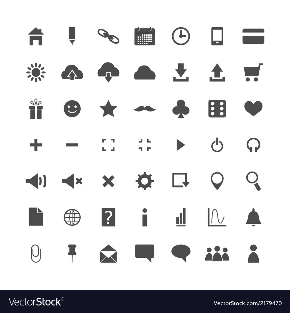 Set of web icons isolated vector | Price: 1 Credit (USD $1)