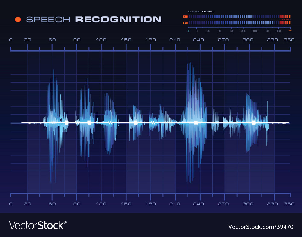 Speech recognition vector | Price: 1 Credit (USD $1)