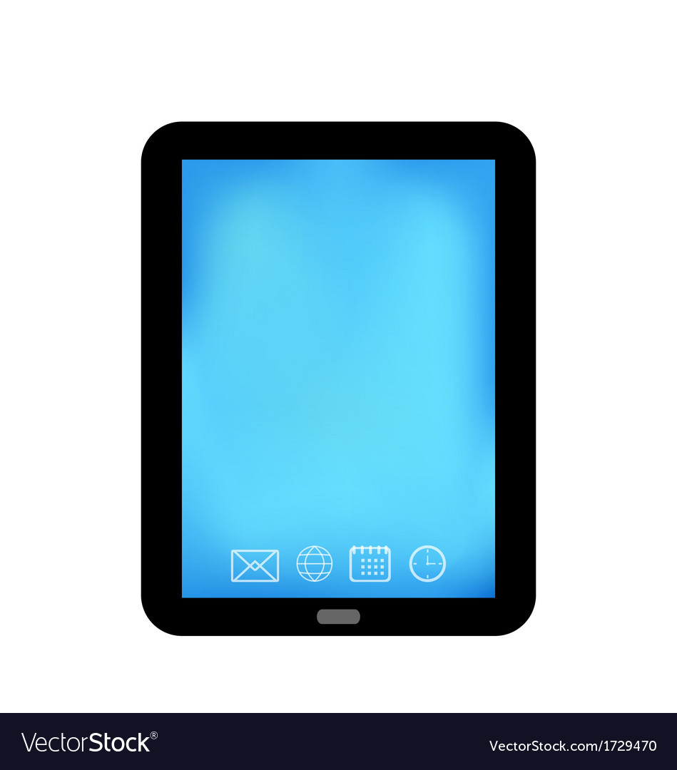 Tablet computer with panel navigation smart device vector | Price: 1 Credit (USD $1)