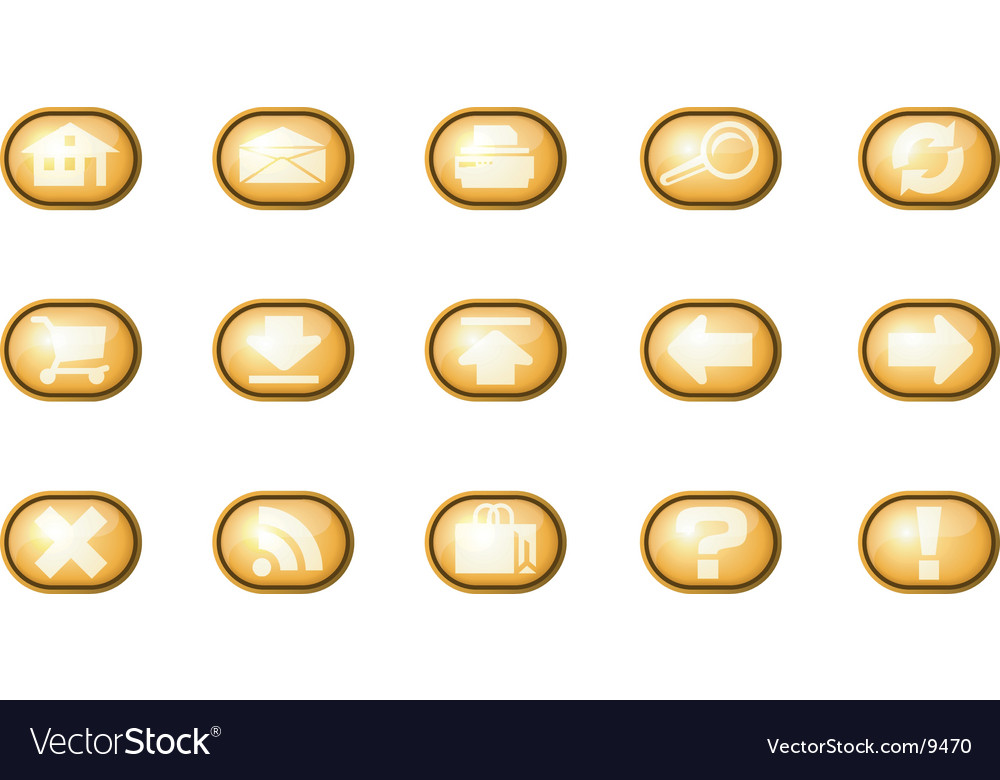Web icons a yellow vector | Price: 1 Credit (USD $1)