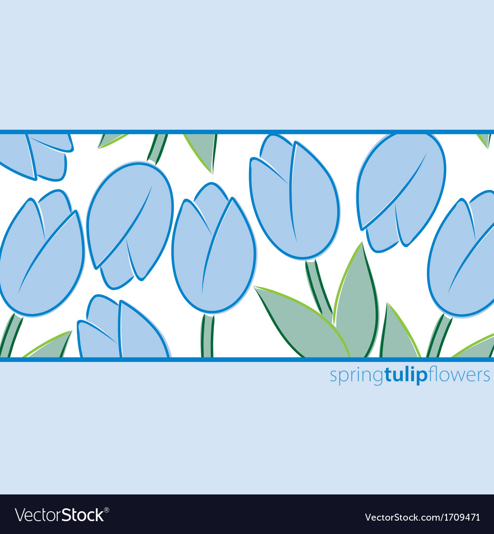 All occasion tulip card in format vector | Price: 3 Credit (USD $3)