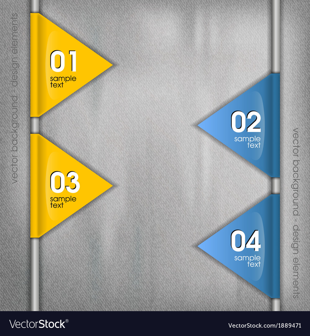 Business triangles blue yellow side with text vector | Price: 1 Credit (USD $1)