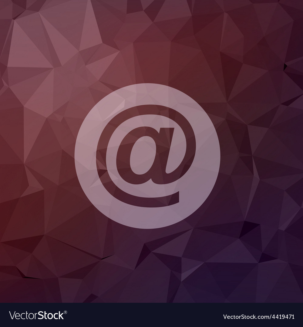 Email symbol in flat style icon vector | Price: 1 Credit (USD $1)