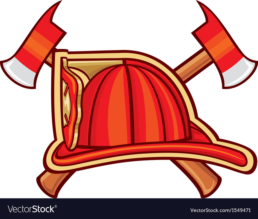 Fire department or firefighters symbol vector