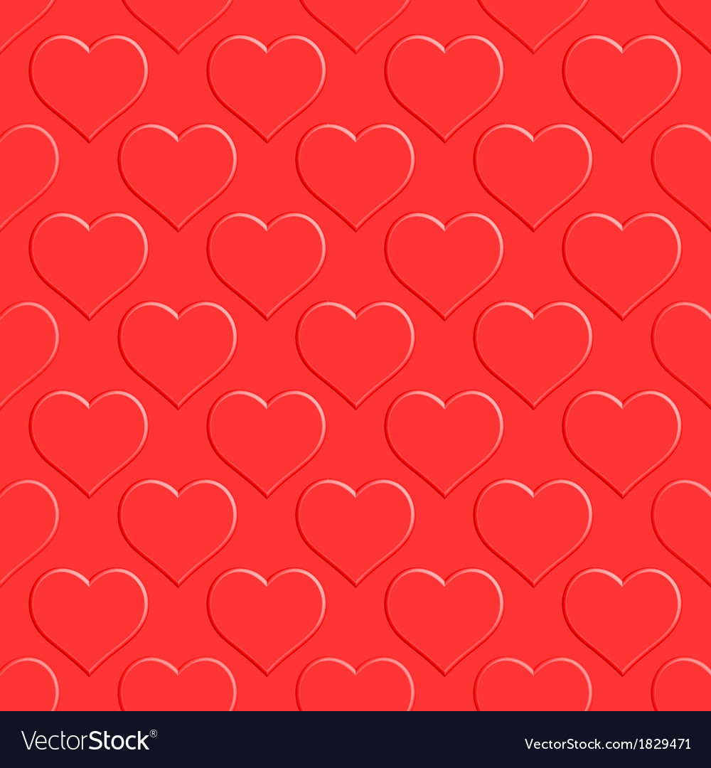 Heart seamless pattern vector | Price: 1 Credit (USD $1)