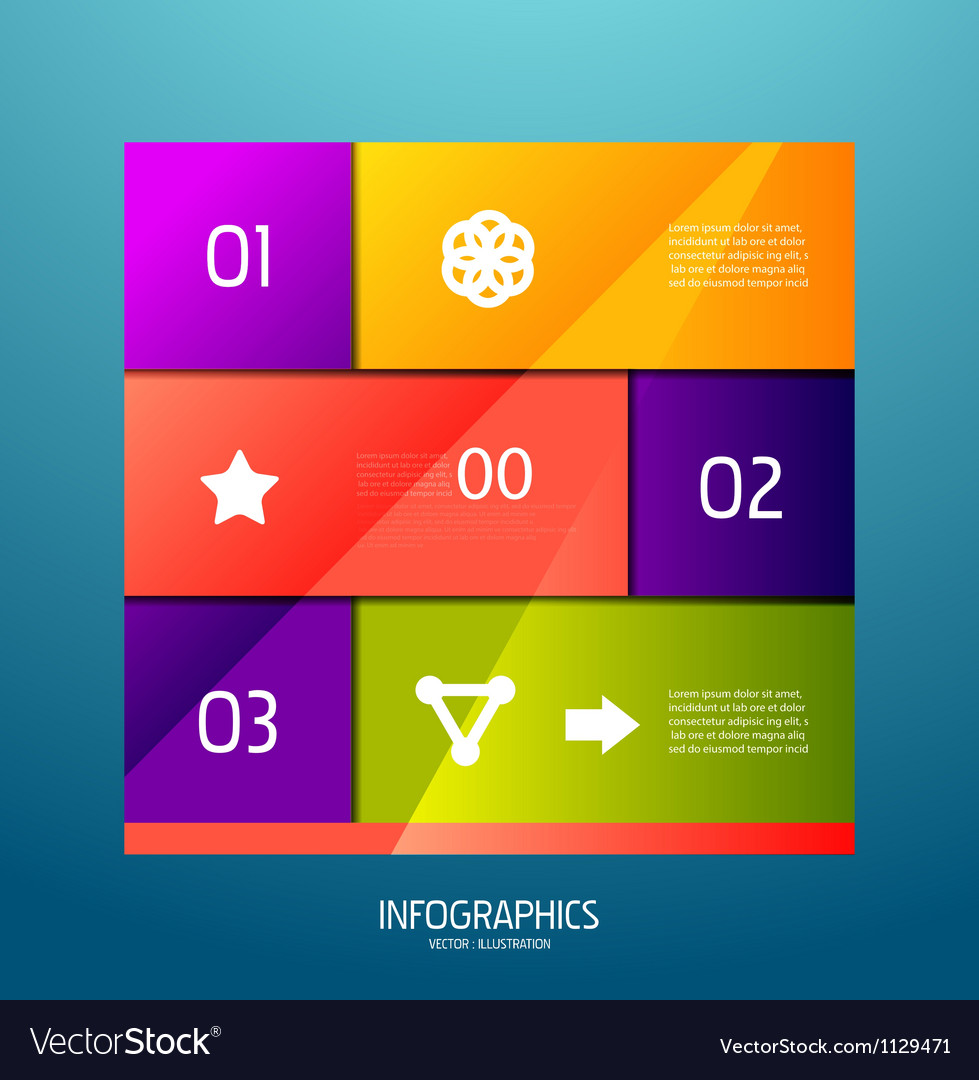 Infographic banner design elements numbered lists vector | Price: 1 Credit (USD $1)