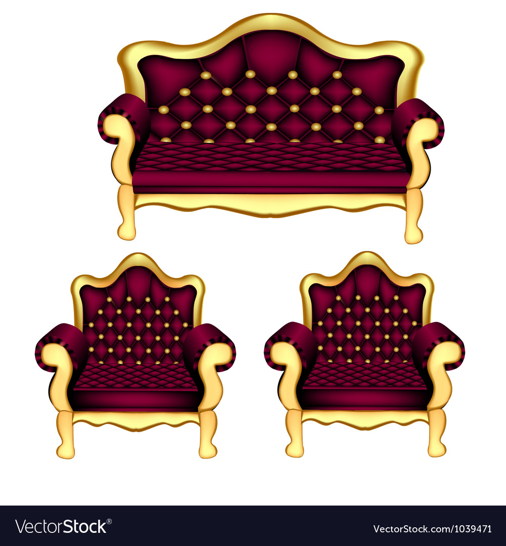 Luxury sofa chair vector | Price: 1 Credit (USD $1)