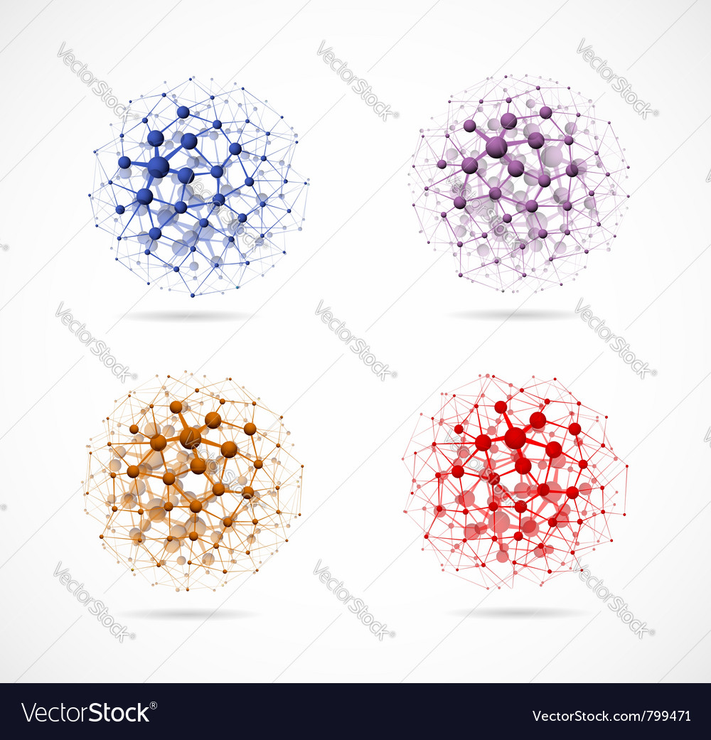 Molecular structure set vector | Price: 1 Credit (USD $1)