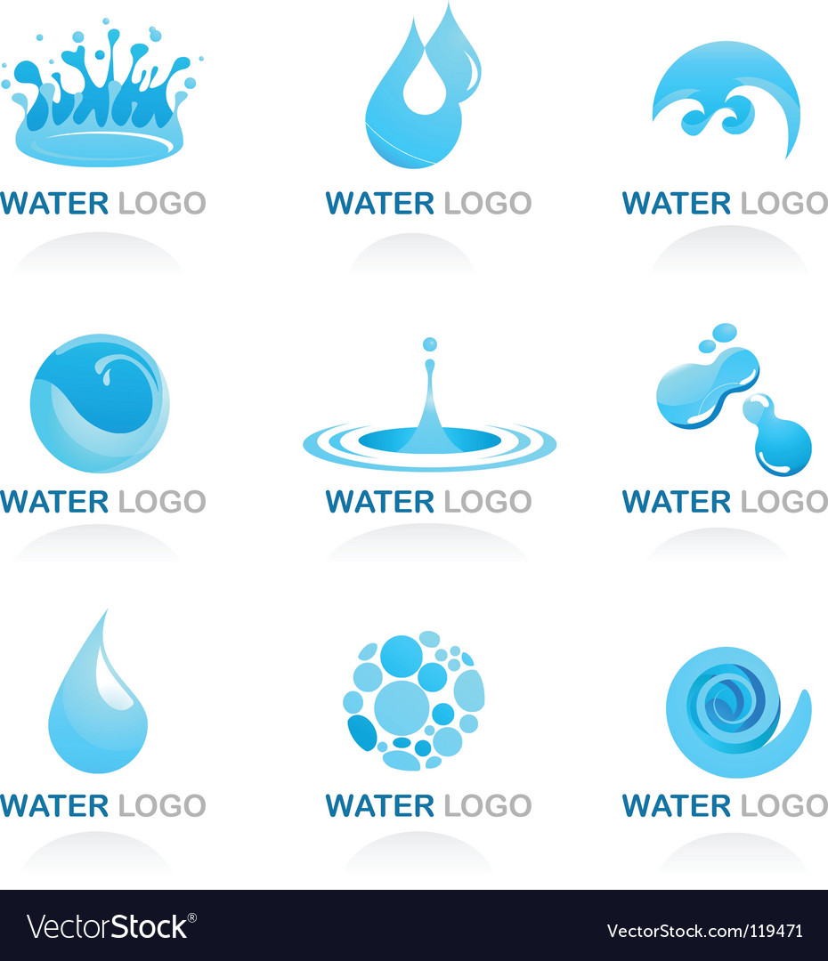 Nature logos 03 water theme vector | Price: 1 Credit (USD $1)