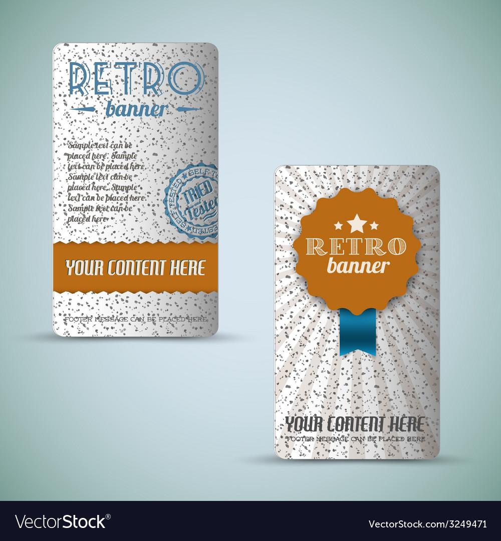 Old retro vintage grunge cards vector | Price: 1 Credit (USD $1)