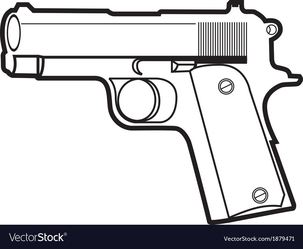 Pistol vector | Price: 1 Credit (USD $1)