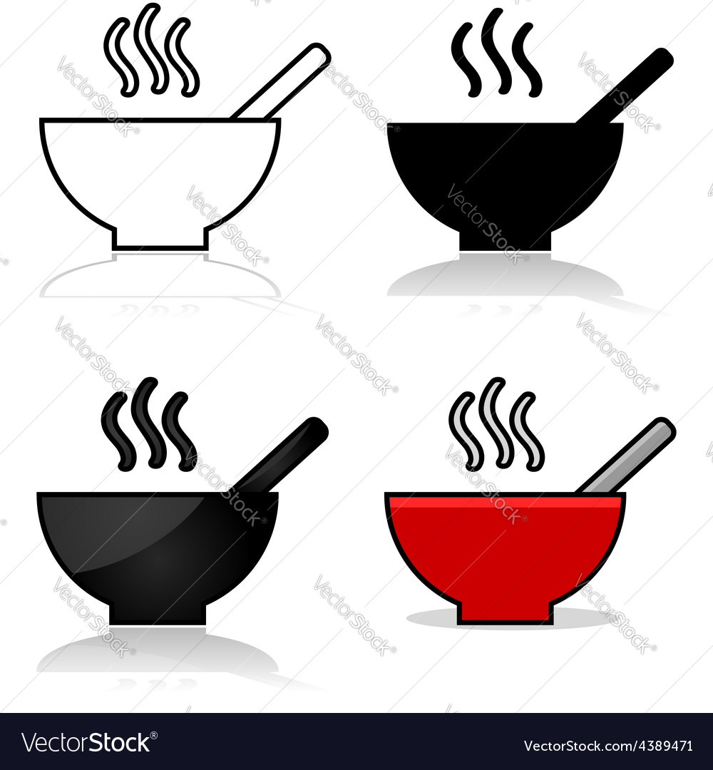 Soup icons vector | Price: 1 Credit (USD $1)