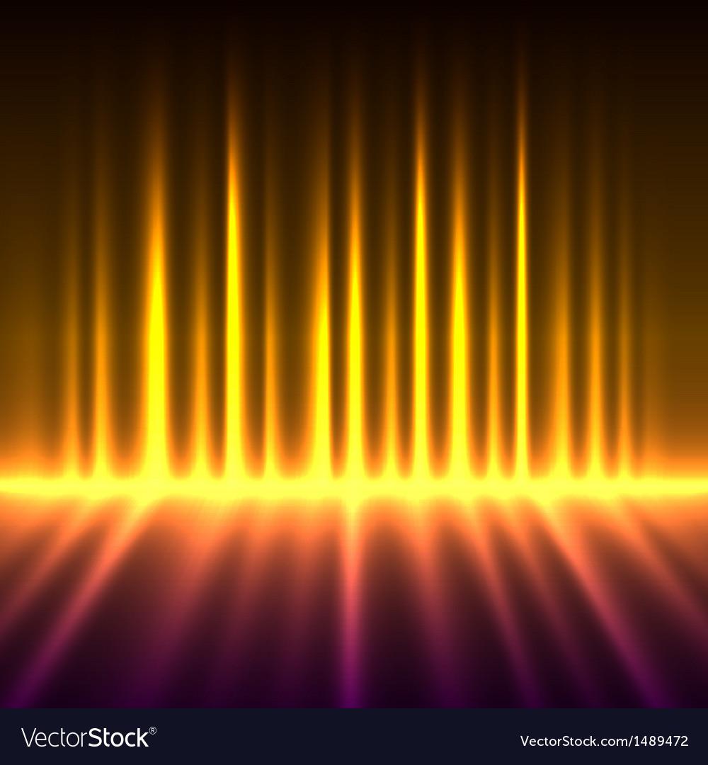 Abstract fire colored aurora borealis vector   Price: 1 Credit (USD $1)