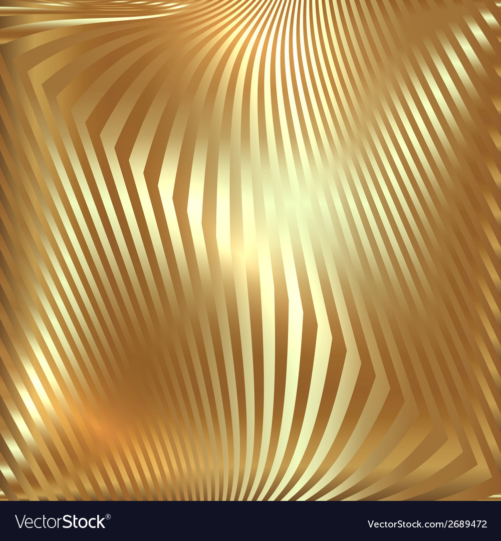 Abstract metal gold background with zigzag stripes vector | Price: 1 Credit (USD $1)