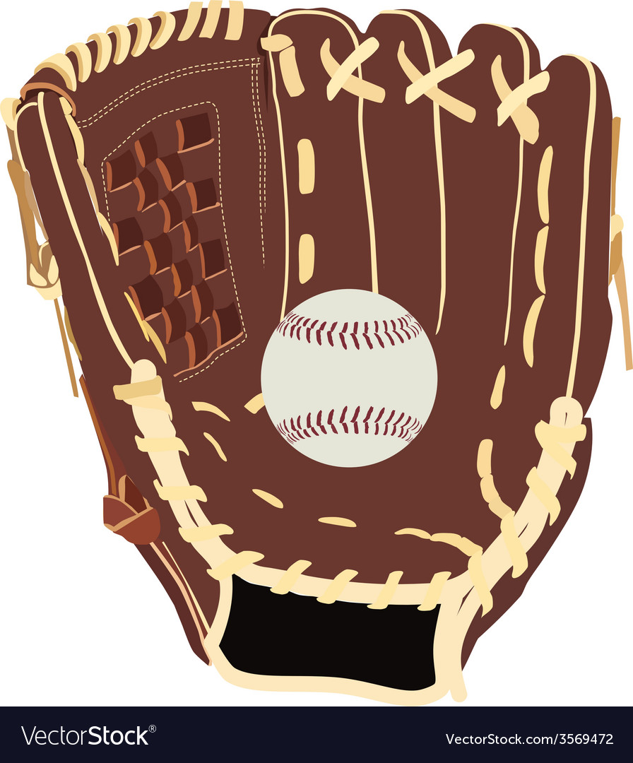 Baseball glove and ball vector | Price: 1 Credit (USD $1)