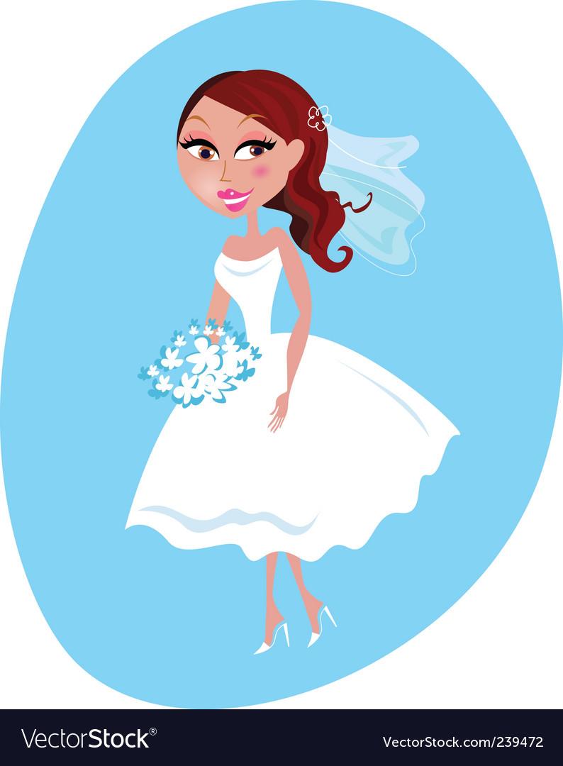 Cartoon bride vector | Price: 1 Credit (USD $1)