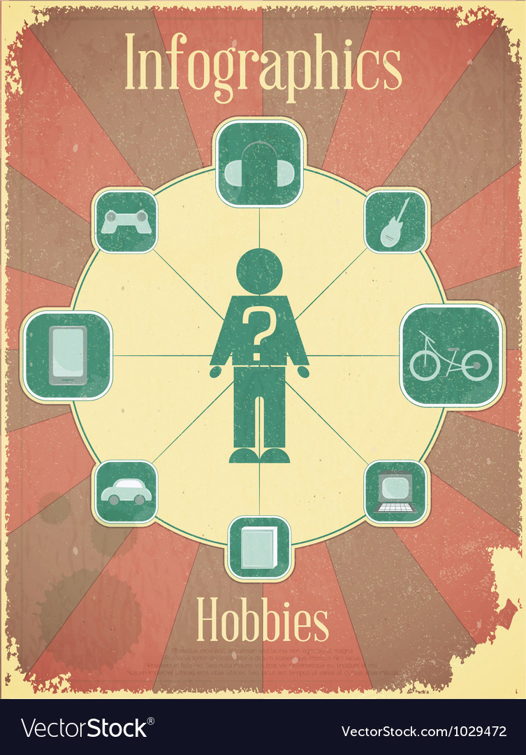 Hobbies graph for presentation vector | Price: 1 Credit (USD $1)