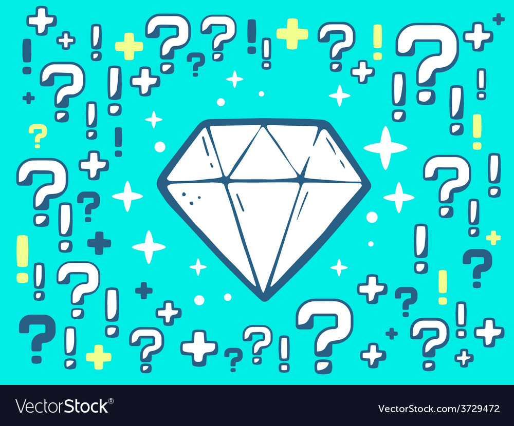 Many questions and exclamation marks arou vector   Price: 1 Credit (USD $1)