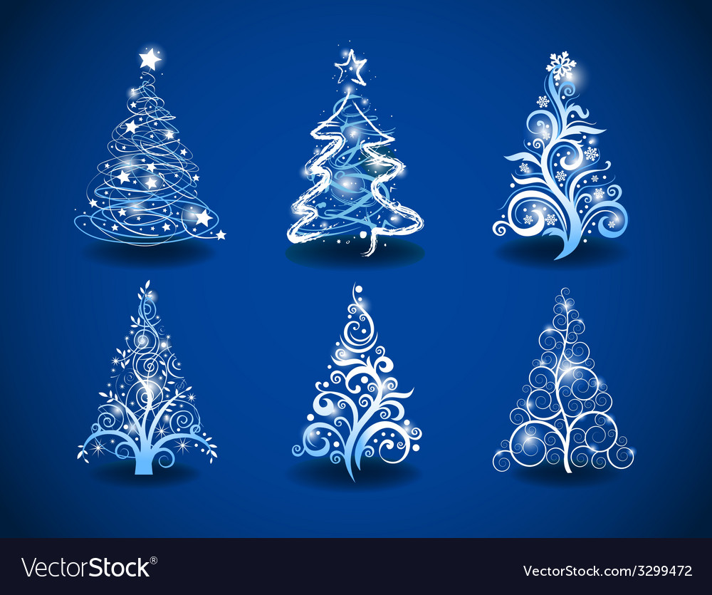 Modern christmas trees vector | Price: 1 Credit (USD $1)