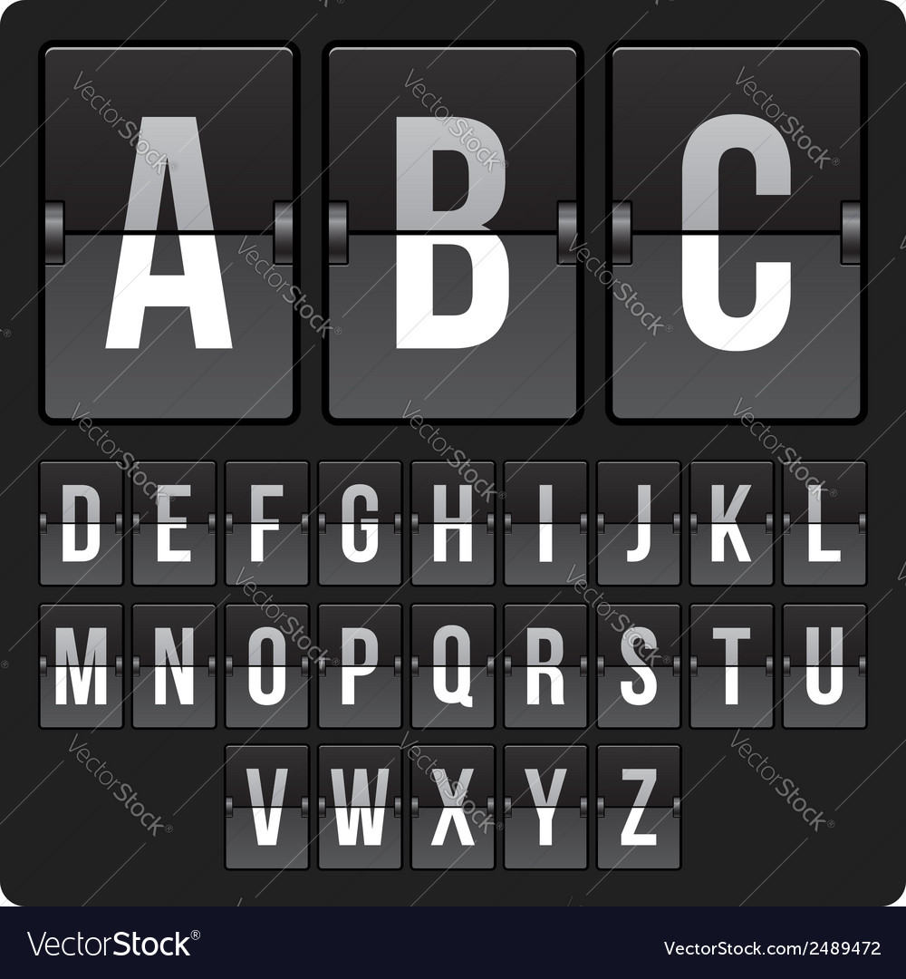 Scoreboard with alphabet vector | Price: 1 Credit (USD $1)