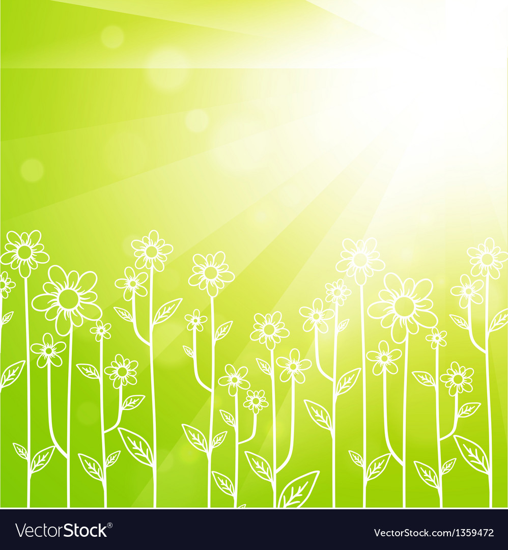 Summer meadow vector | Price: 1 Credit (USD $1)