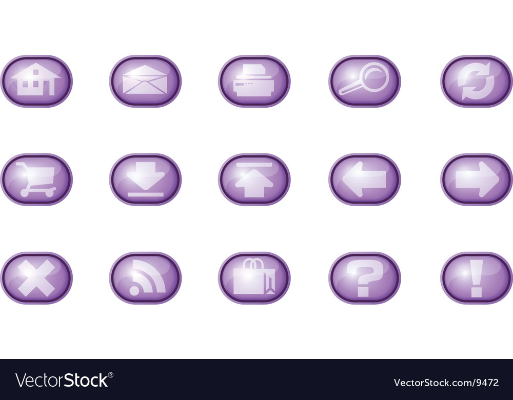 Web icons a purple vector | Price: 1 Credit (USD $1)