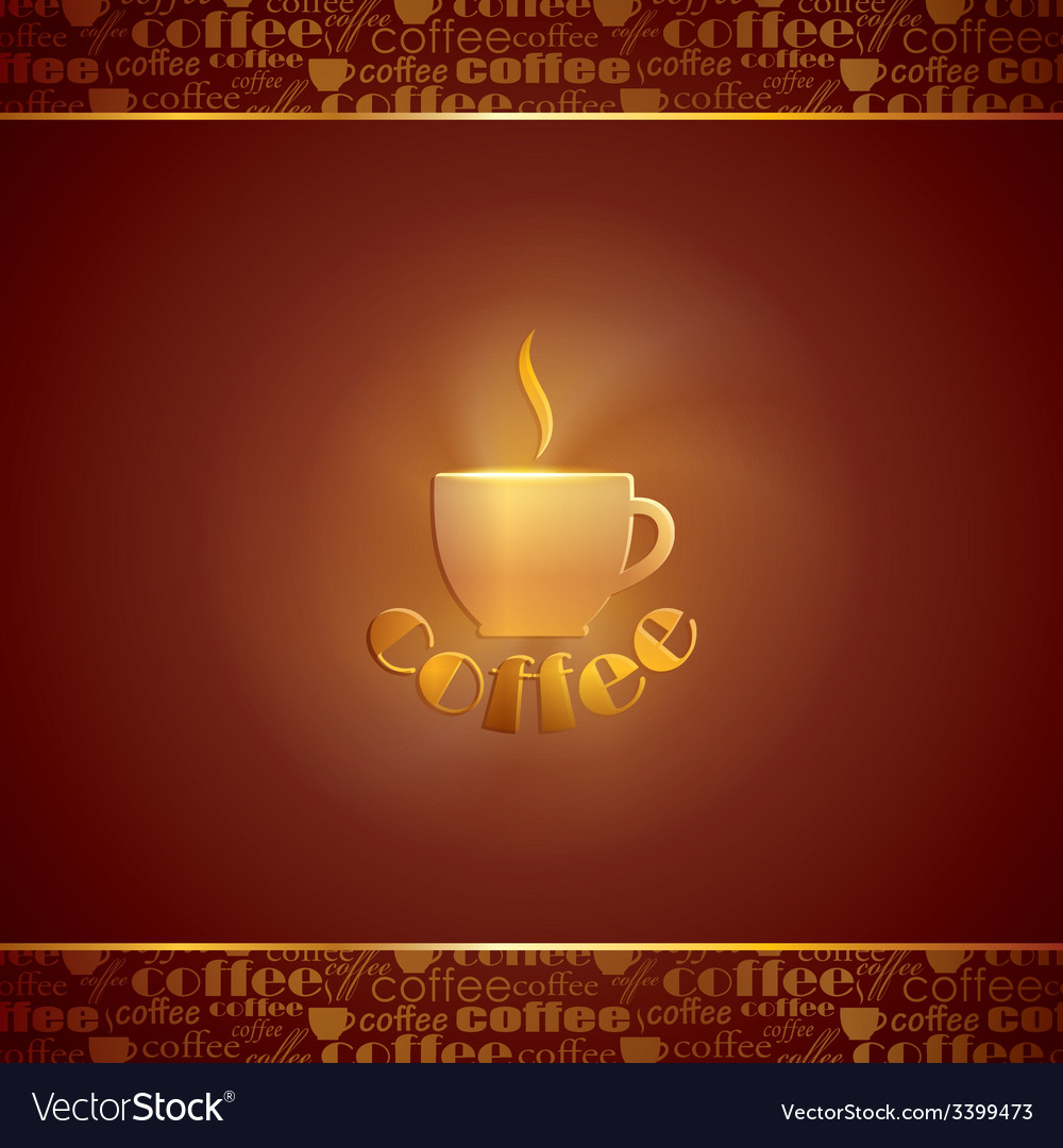 Abstract background with coffee cup vector | Price: 1 Credit (USD $1)
