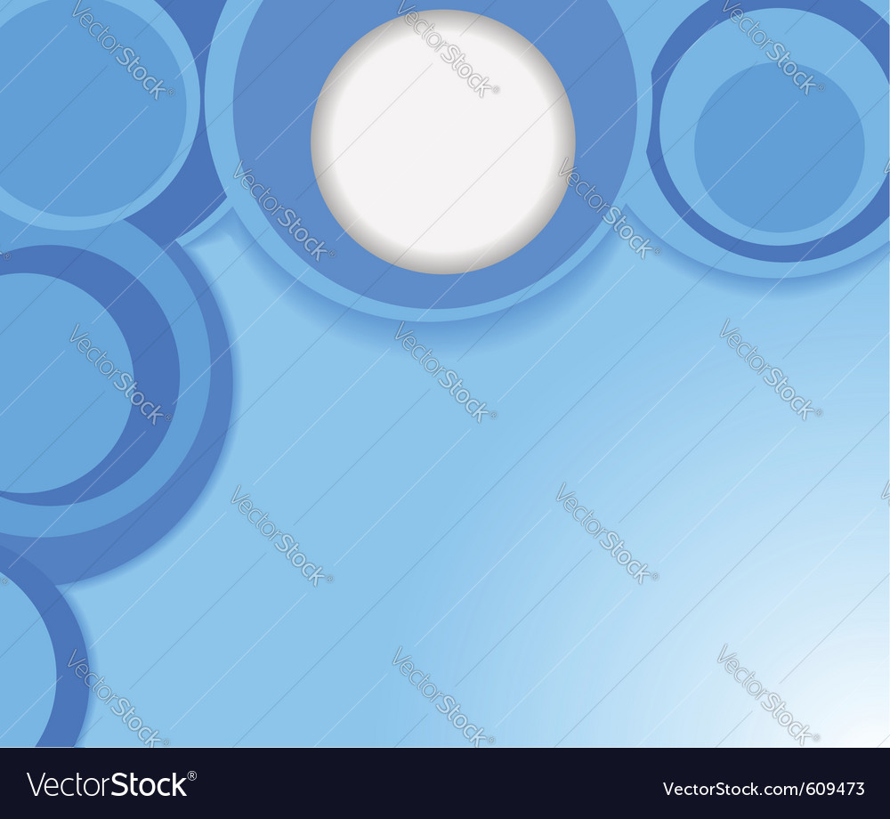 Blue background with circles vector | Price: 1 Credit (USD $1)
