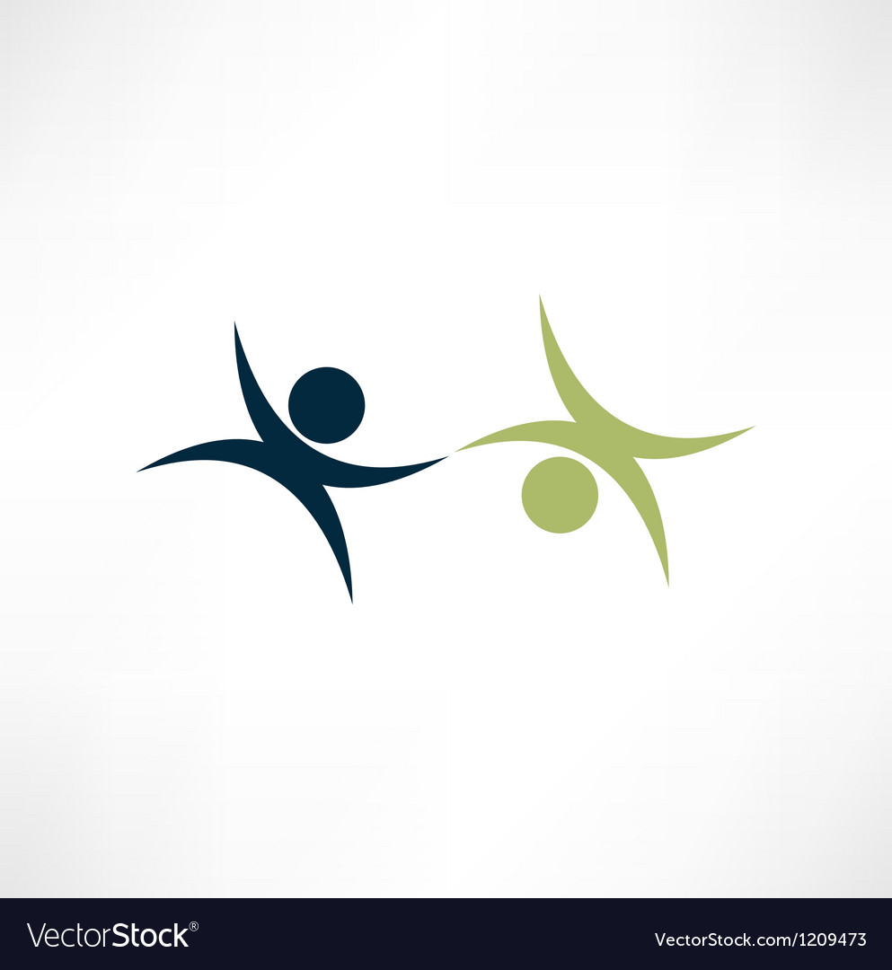 Business partners sign vector | Price: 1 Credit (USD $1)