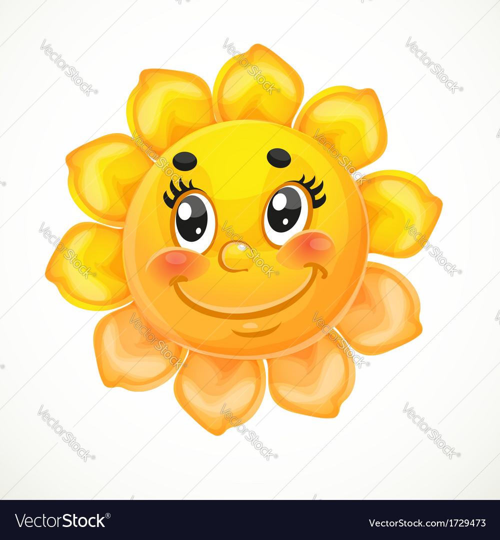 Cute smiling sun vector | Price: 1 Credit (USD $1)