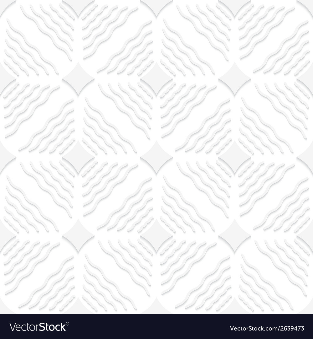 Diagonal white wavy lines and pointy squares vector | Price: 1 Credit (USD $1)