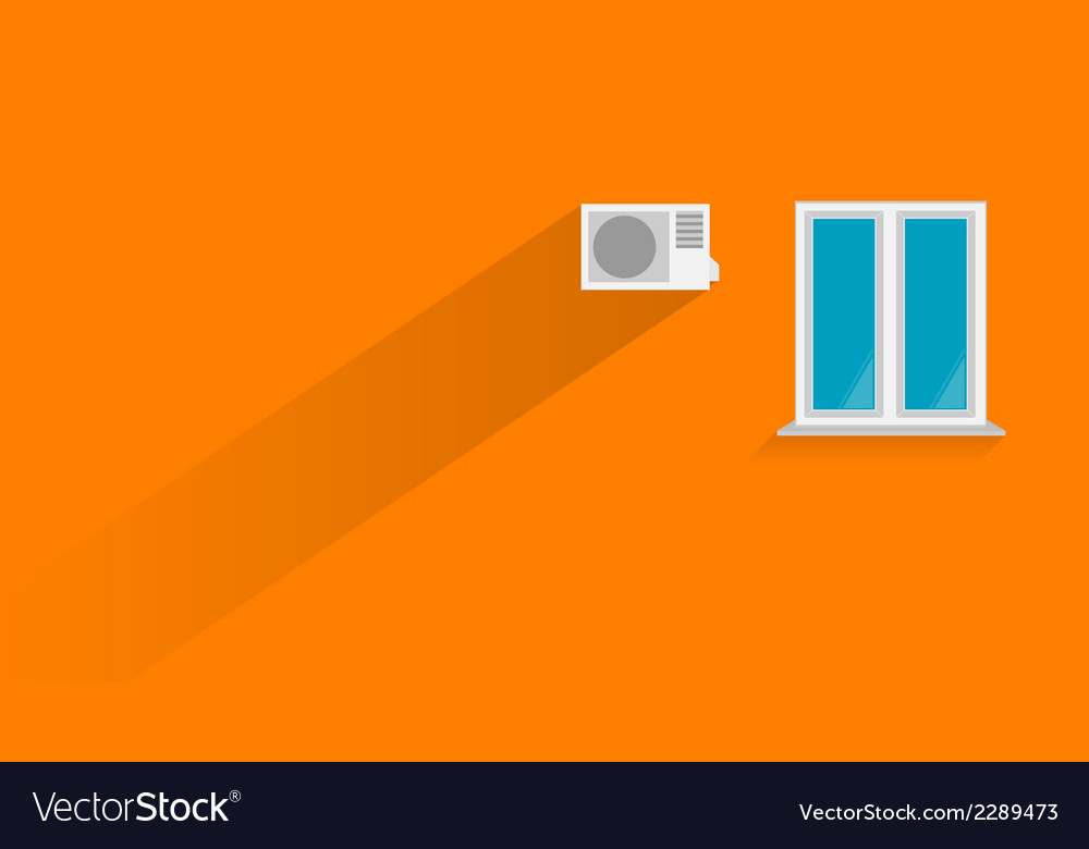 Flat of orange wall vector | Price: 1 Credit (USD $1)