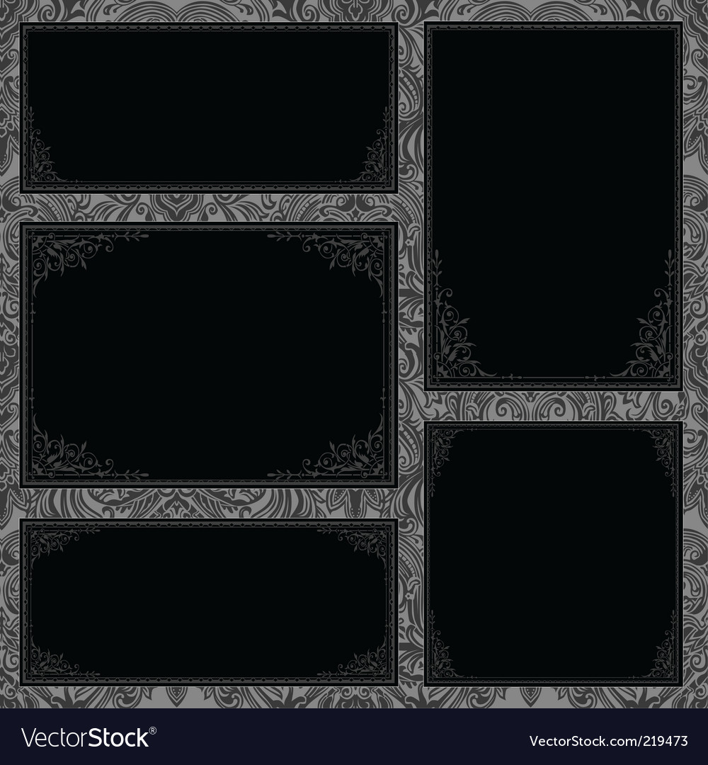 Gothic frame set vector | Price: 1 Credit (USD $1)