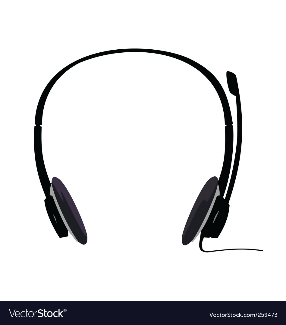 Headset vector | Price: 1 Credit (USD $1)