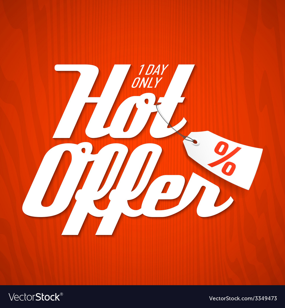 Hot offer poster vector | Price: 1 Credit (USD $1)