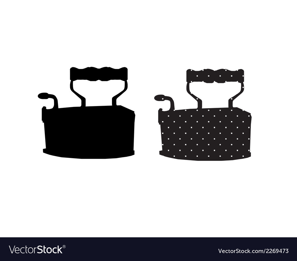 Icon in the form of iron vector | Price: 1 Credit (USD $1)