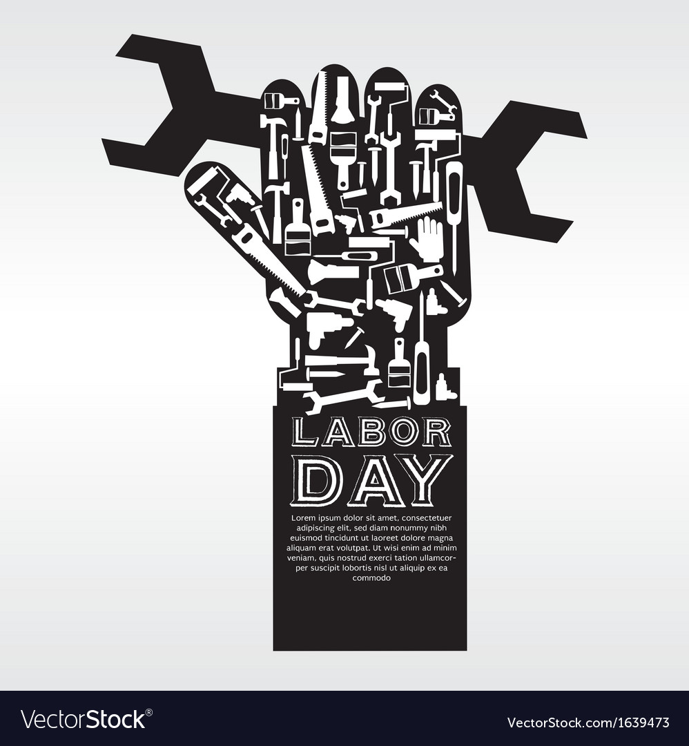 Labor day conceptual eps10 vector | Price: 1 Credit (USD $1)