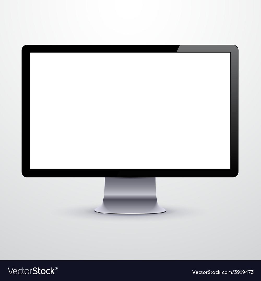 Modern lcd monitor vector | Price: 1 Credit (USD $1)