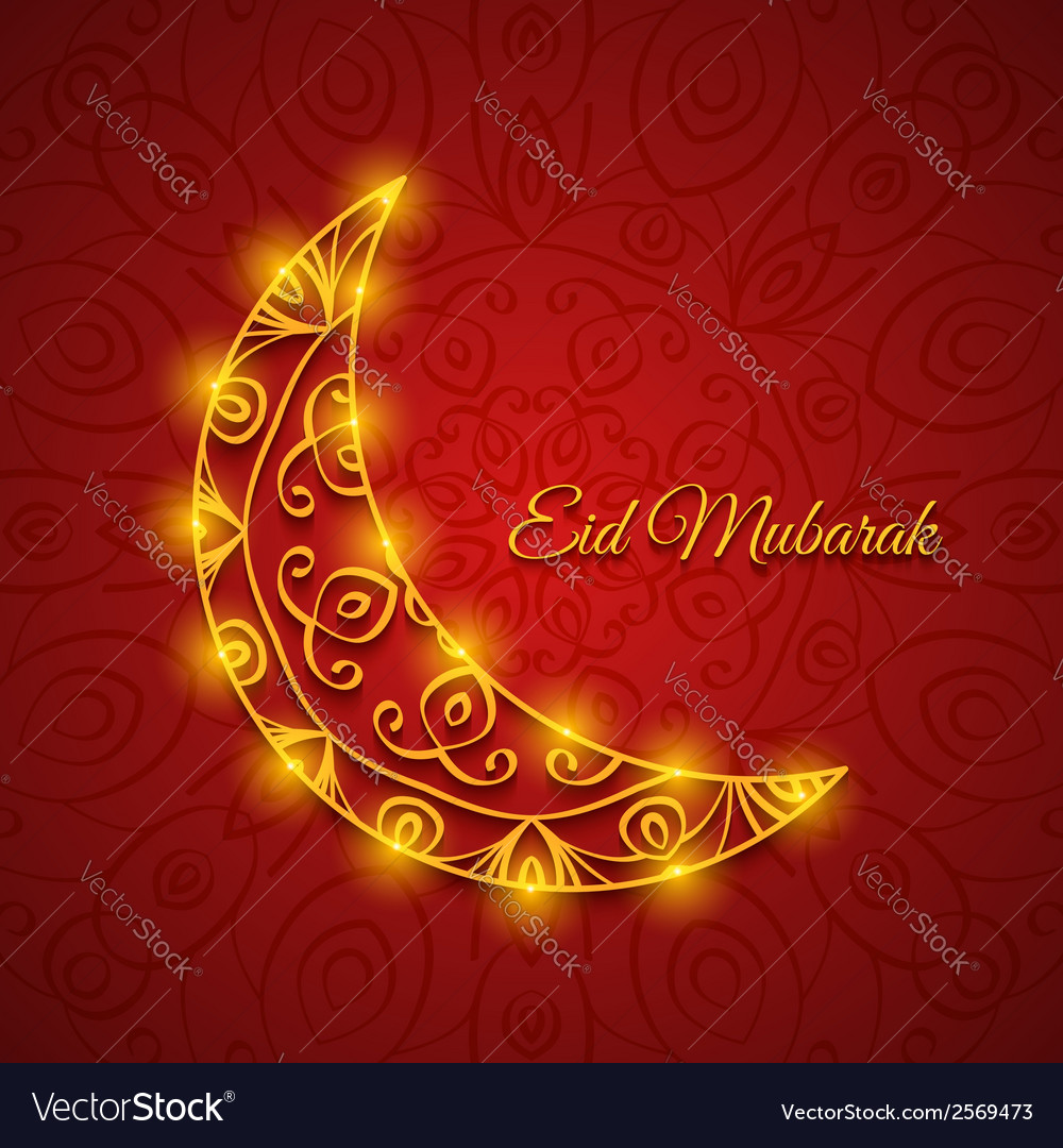 Moon for muslim community festival eid mubarak vector | Price: 1 Credit (USD $1)