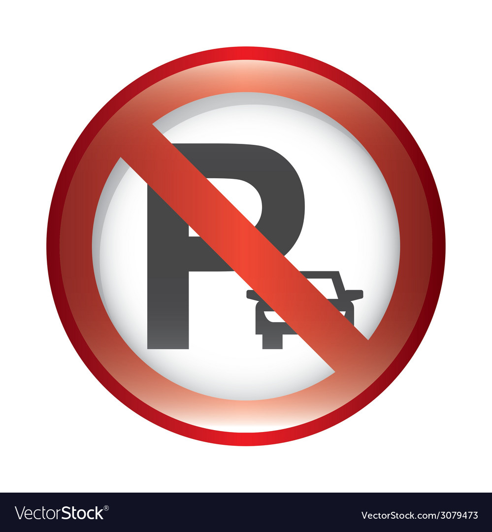 No parking design vector | Price: 1 Credit (USD $1)