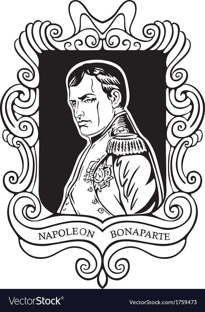 Portrait of napoleon bonaparte vector | Price: 1 Credit (USD $1)