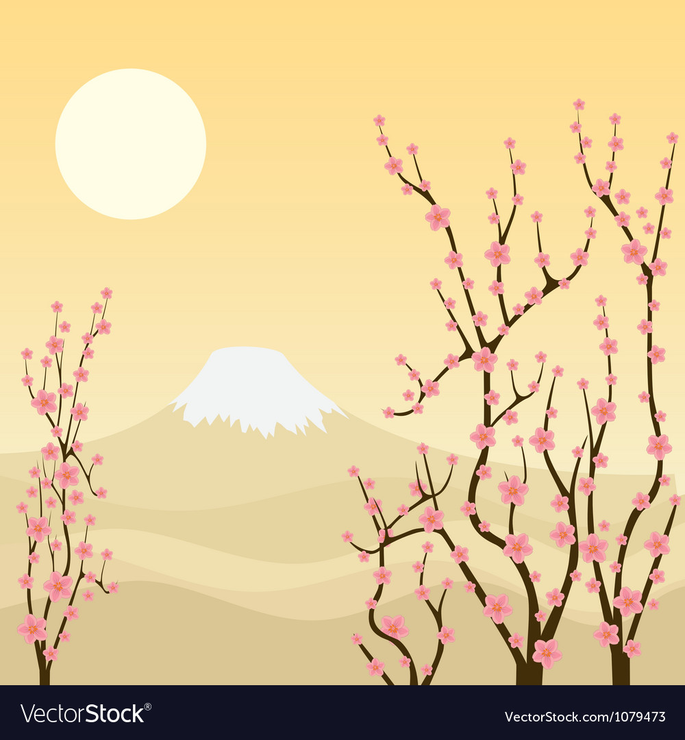 Sakura tree vector | Price: 1 Credit (USD $1)
